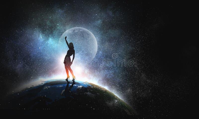 Her dance world stock photo