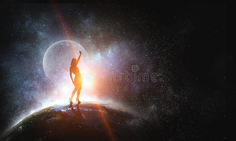 Her dance world royalty free stock image