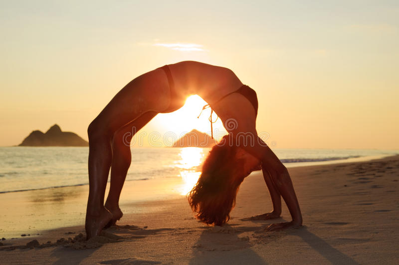 Download Silhouette Of Woman Doing Yoga Stock Photo - Image: 12933464