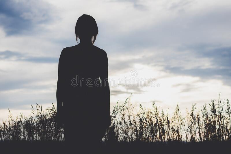 Silhouette Of Woman In Field Free Public Domain Cc0 Image