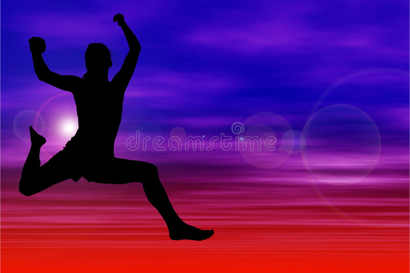 Download Silhouette Of Woman Jumping Against Sky Stock Illustration - Illustration of people, women: 150656