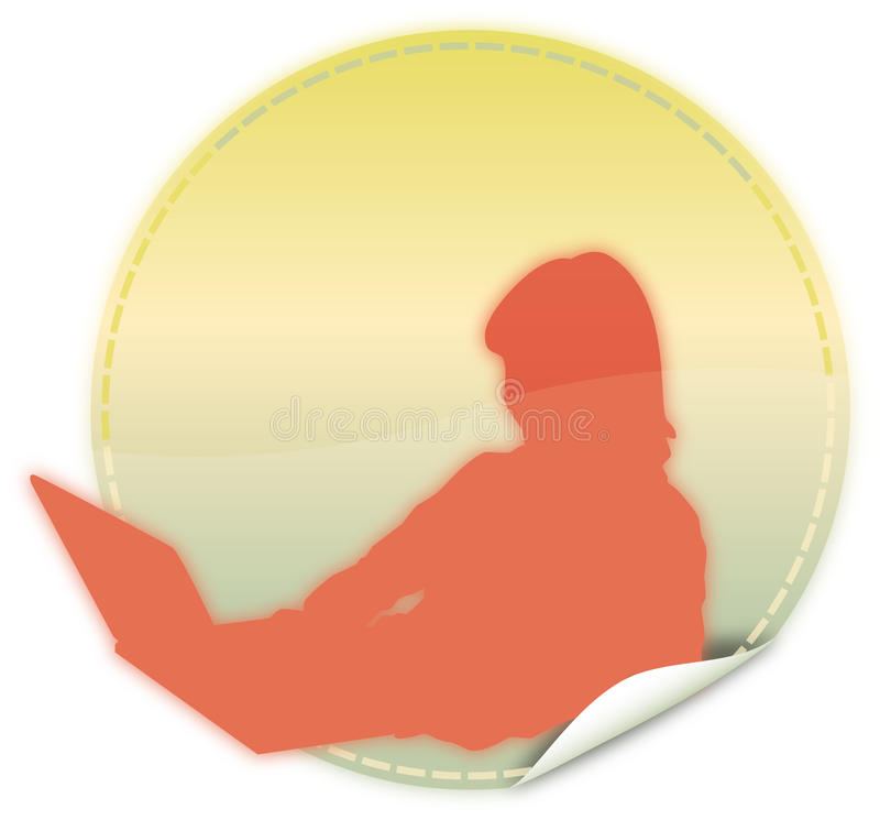 Silhouette of woman with laptop computer