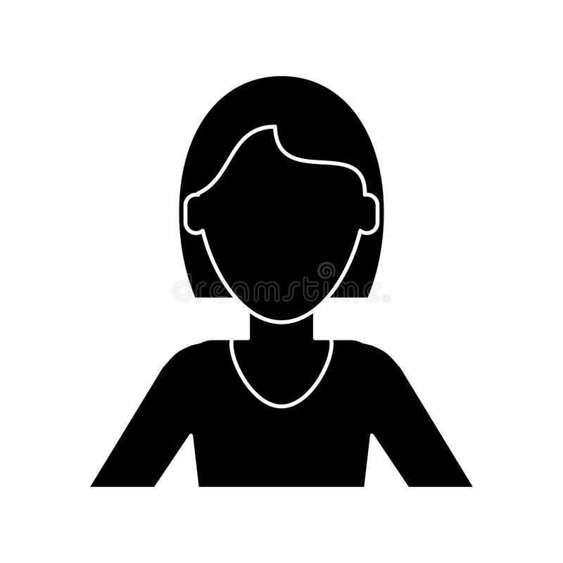 Image result for female head silhouette short hair clip art