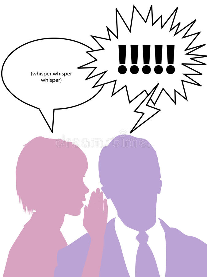 Download Silhouette Woman Whispers Secrets To Man Royalty Free Stock Photography - Image: 15640587