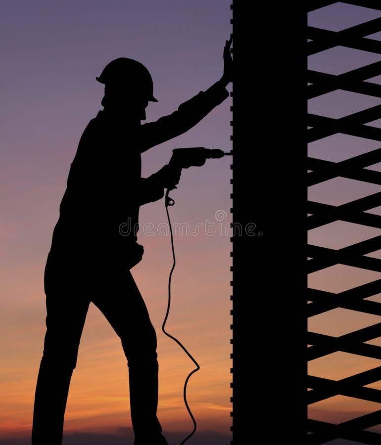 Download Silhouette worker stock illustration. Illustration of development - 28913517