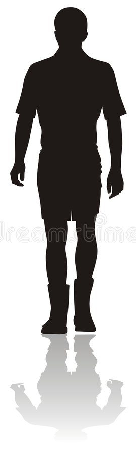 Silhouette of young man vector illustration