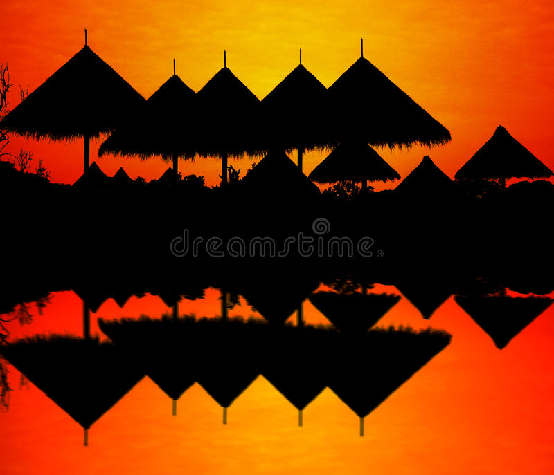 Download Silhouette of zoo roof. stock photo. Image of giraffe - 36573540