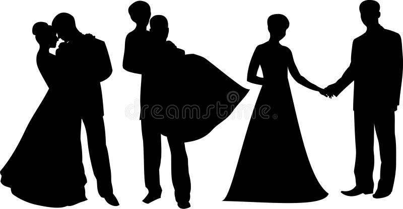Silhouette1 sposato fotografia stock libera da diritti