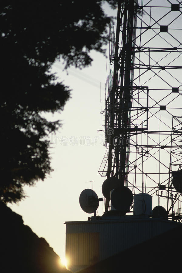 Download Silhouetted antenna stock image. Image of united, antenna - 23161581