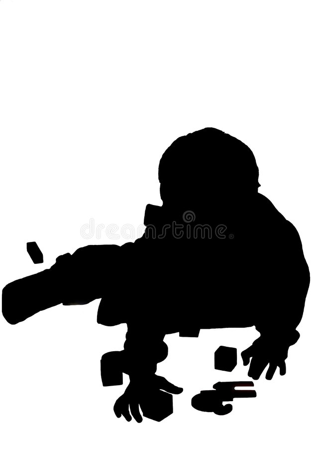 Download Silhouetted boy stock illustration. Image of playing, shadow - 217975