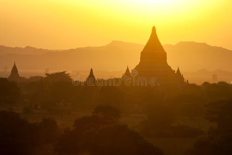 Download Bagan Temples at Sunset stock photo. Image of orange - 29844774