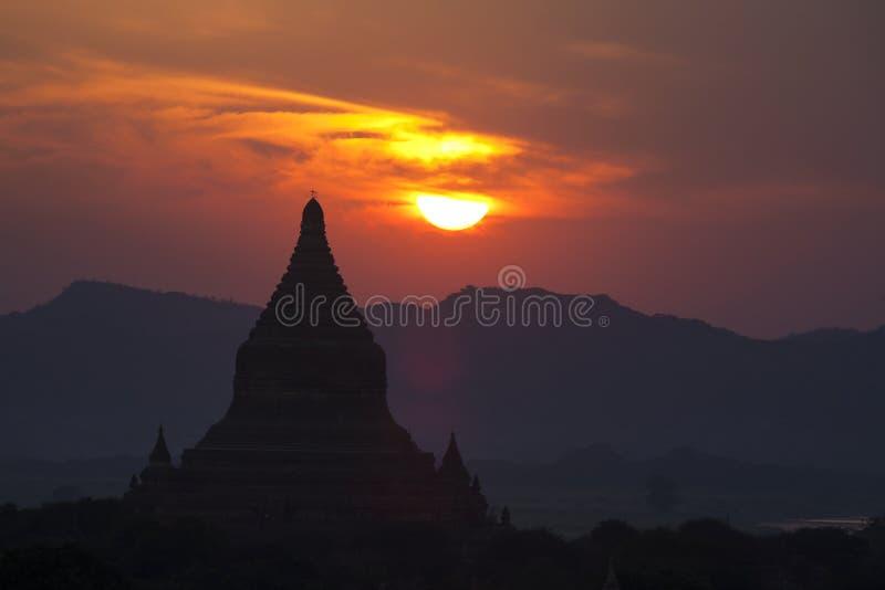 Bagan Temples At Sunset Royalty Free Stock Photography