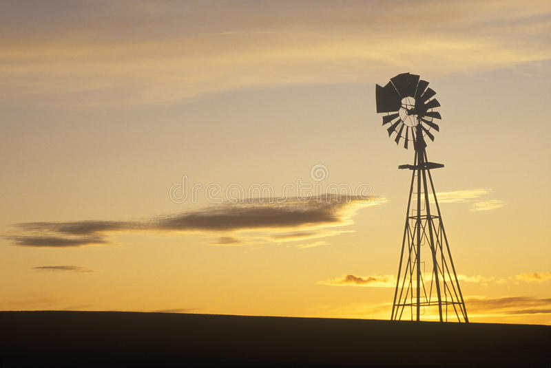 Download Silhouetted windmill, SD stock image. Image of kansas - 23150277