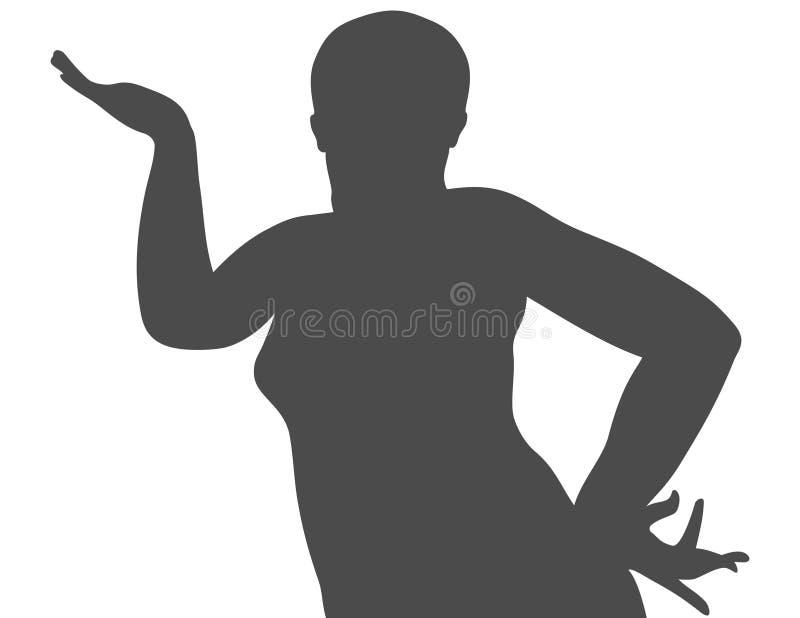 silhouettekvinna arkivbild
