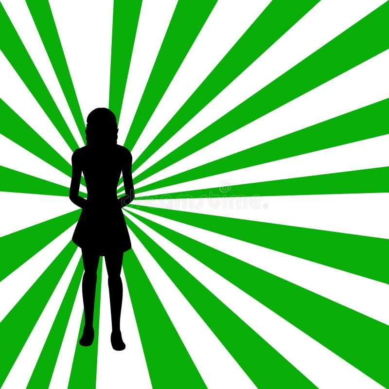 silhouettekvinna vektor illustrationer