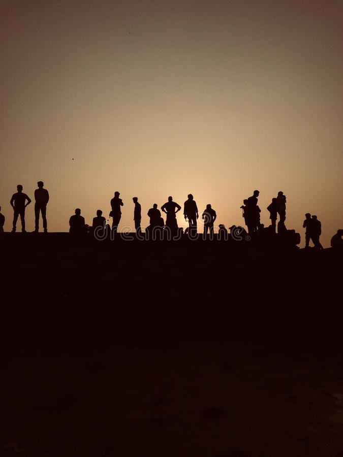 Silhouetten stock fotografie