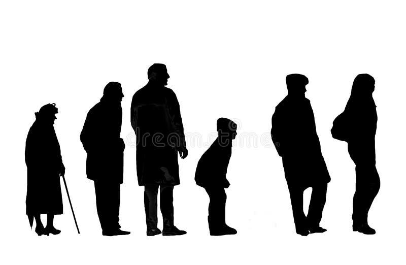 Silhouetten stock illustratie