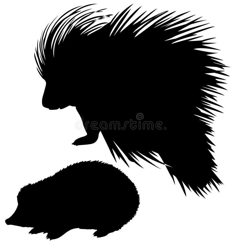 silhouetten dier royalty-vrije illustratie