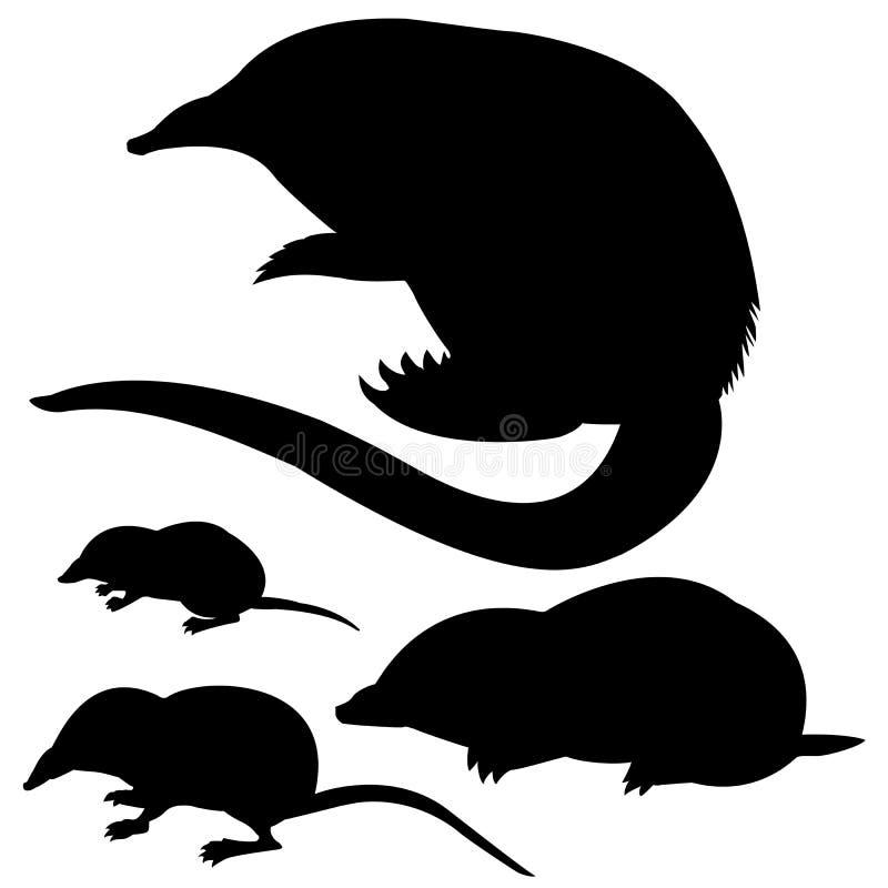silhouetten dier vector illustratie