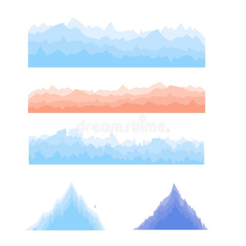 Silhouetten van bergen royalty-vrije illustratie