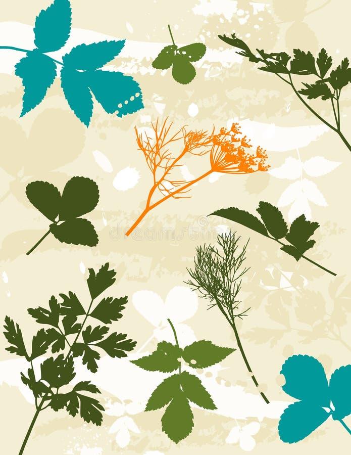 Silhouetten van gras, vector stock illustratie