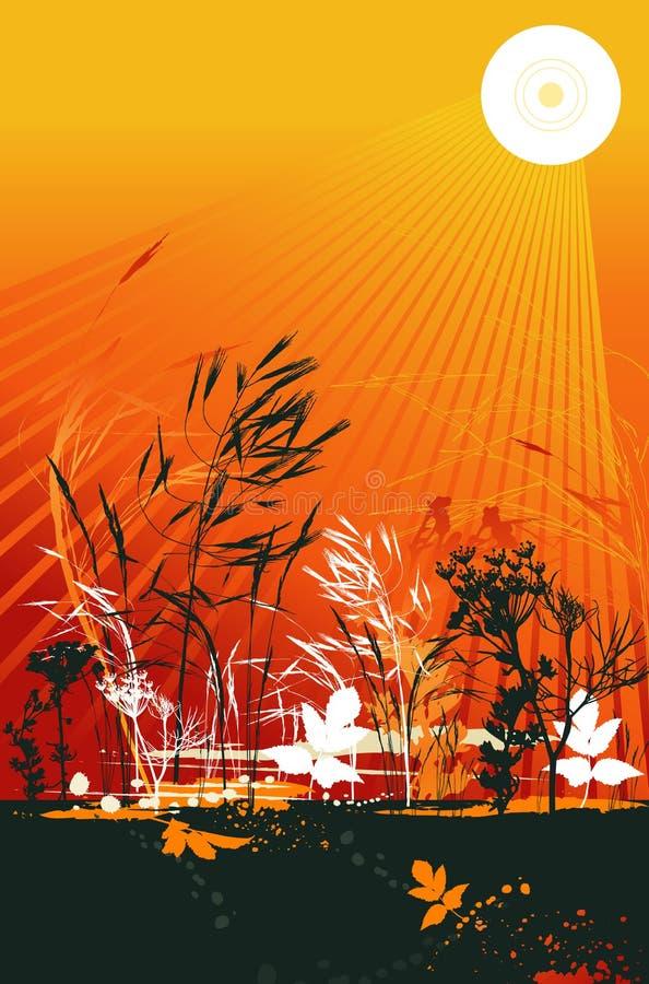 Silhouetten van gras, vector royalty-vrije illustratie