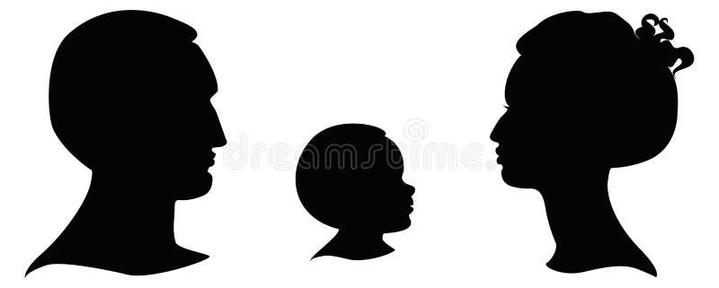 Silhouetten van hoofden vector illustratie