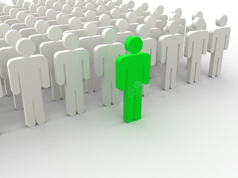 Silhouetten van mensen vector illustratie