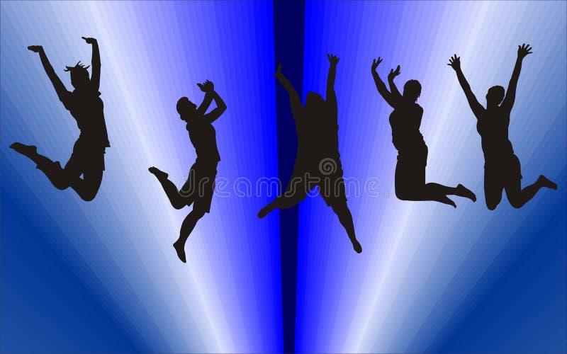 Silhouetten van mensen stock illustratie
