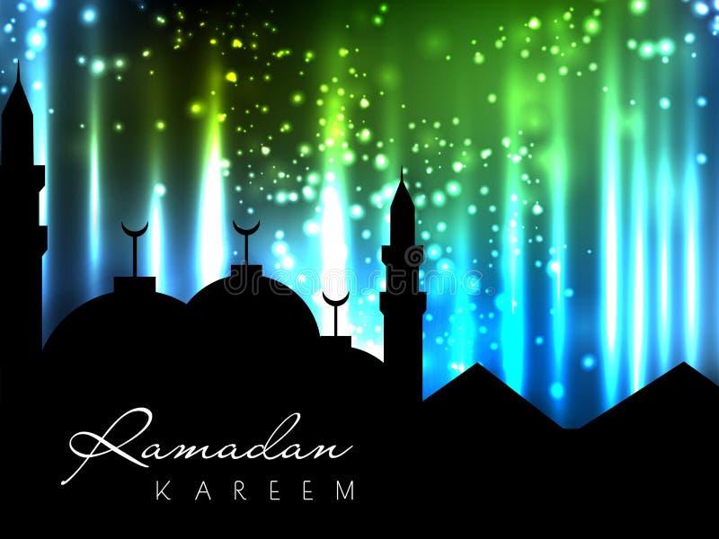 Silhouetten van Moskee. vector illustratie