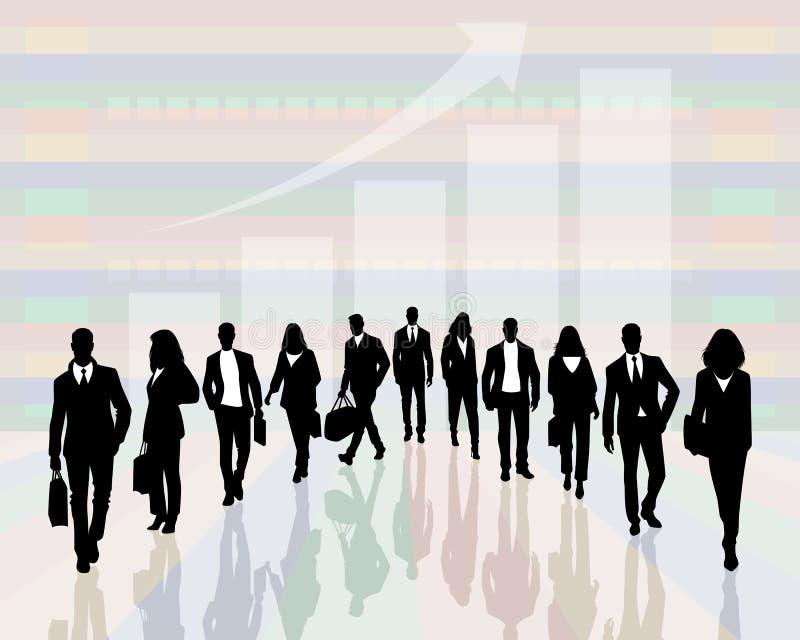 Silhouetten van succesvolle mensen vector illustratie