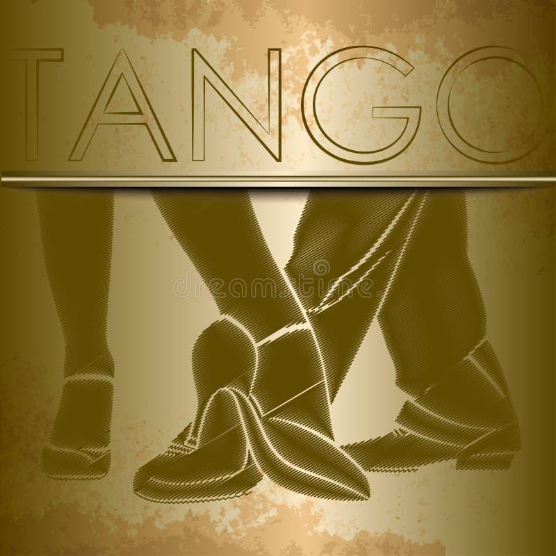 Silhouetten van voeten dansende mensen royalty-vrije illustratie