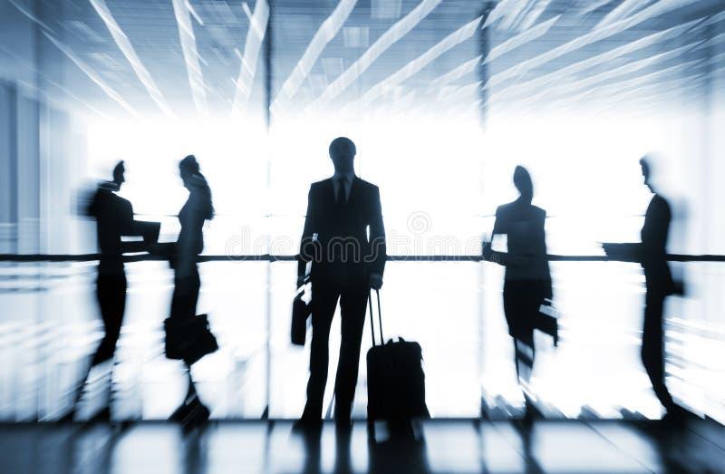 Silhouetten van zakenlui royalty-vrije stock foto