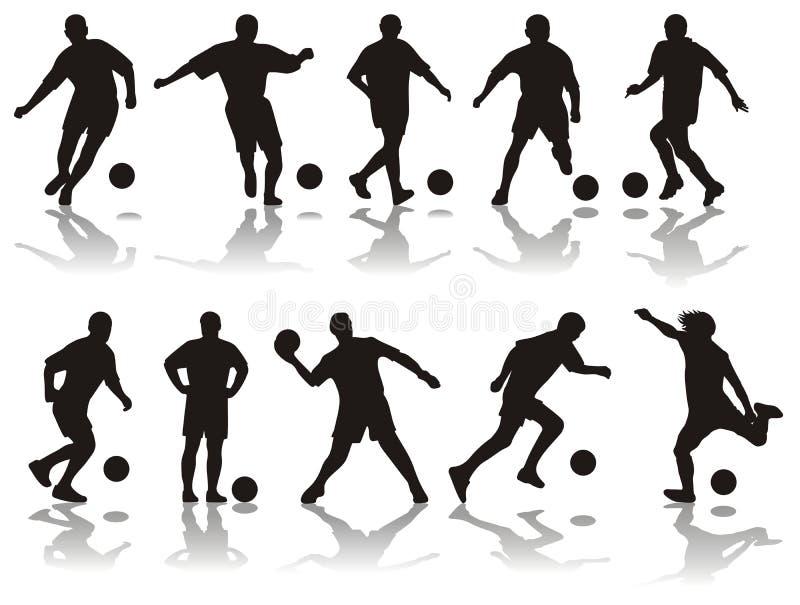 silhouettes футбол бесплатная иллюстрация