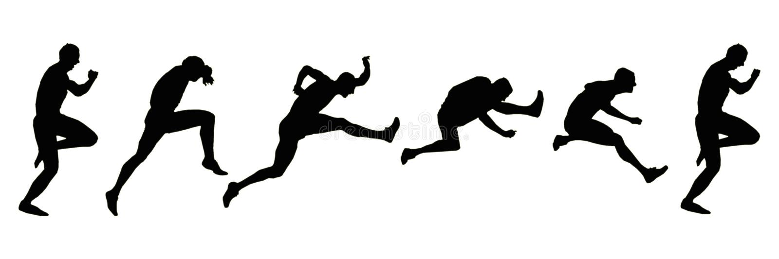 Silhouettes - 110H Attack Sequence royalty free stock photo
