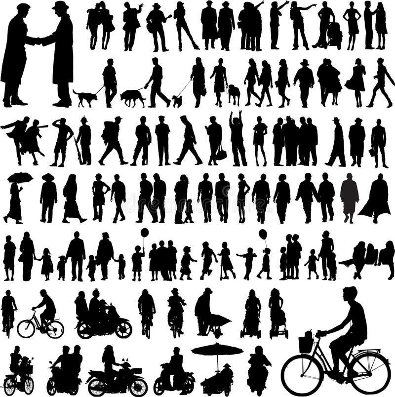 silhouettes vektor illustrationer
