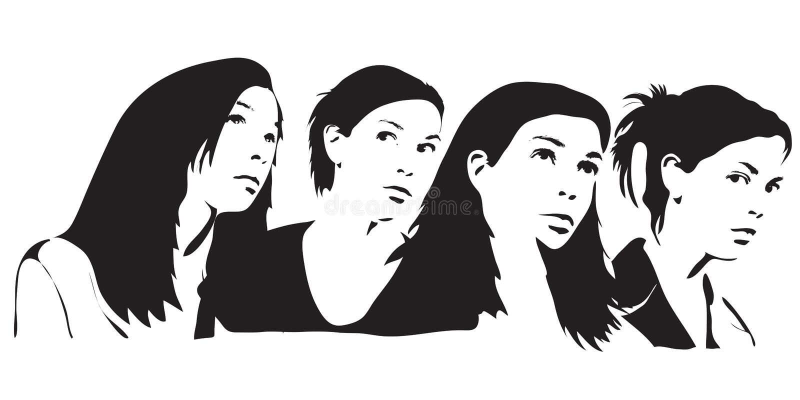 Silhouettes illustration stock