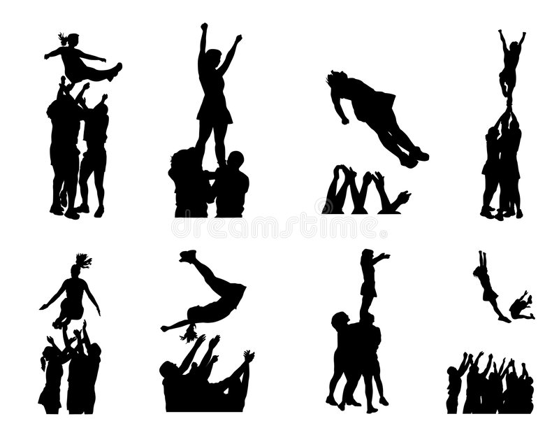 Silhouettes stock illustration