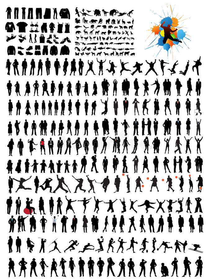 silhouettes vektor illustrationer
