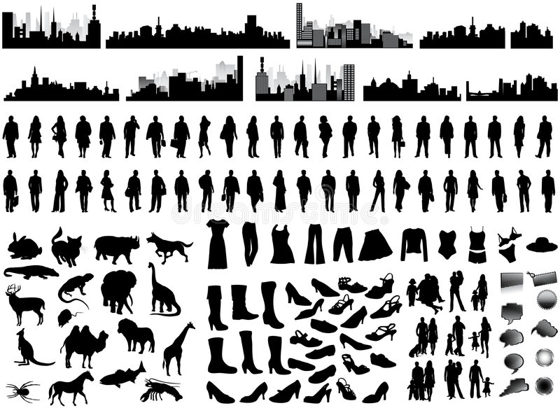 Silhouettes royalty free illustration