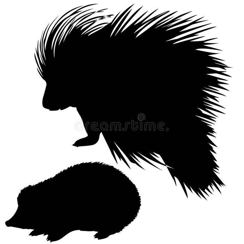 silhouettes animal royalty free illustration