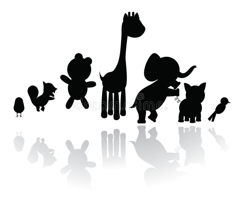 Download Silhouettes animals stock vector. Illustration of graphic - 11945725