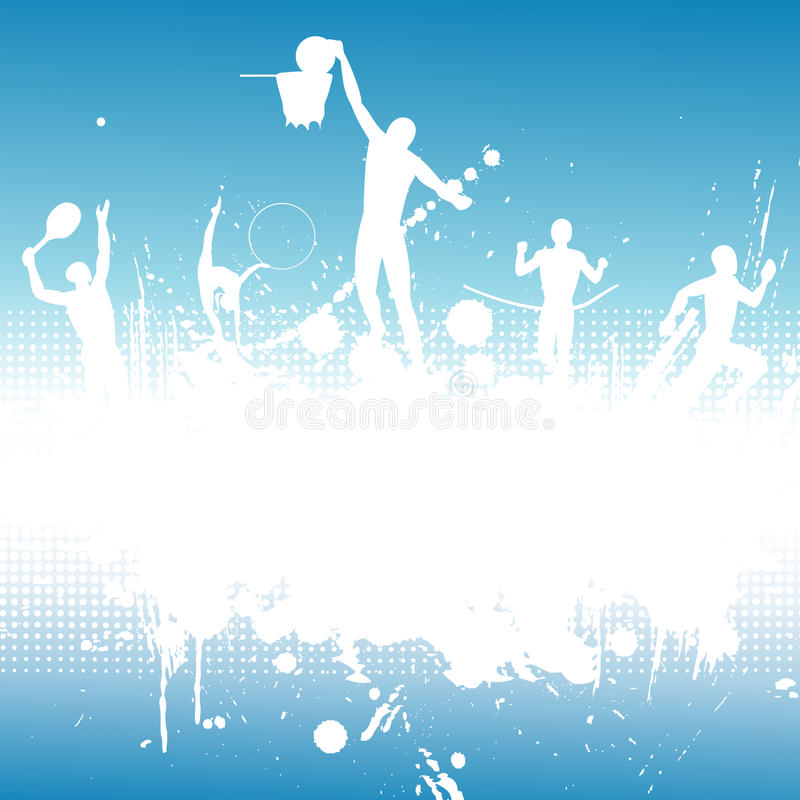 Silhouettes of the athletes royalty free illustration
