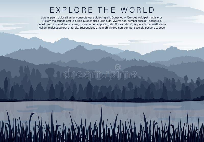 Silhouettes av berg vektor illustrationer