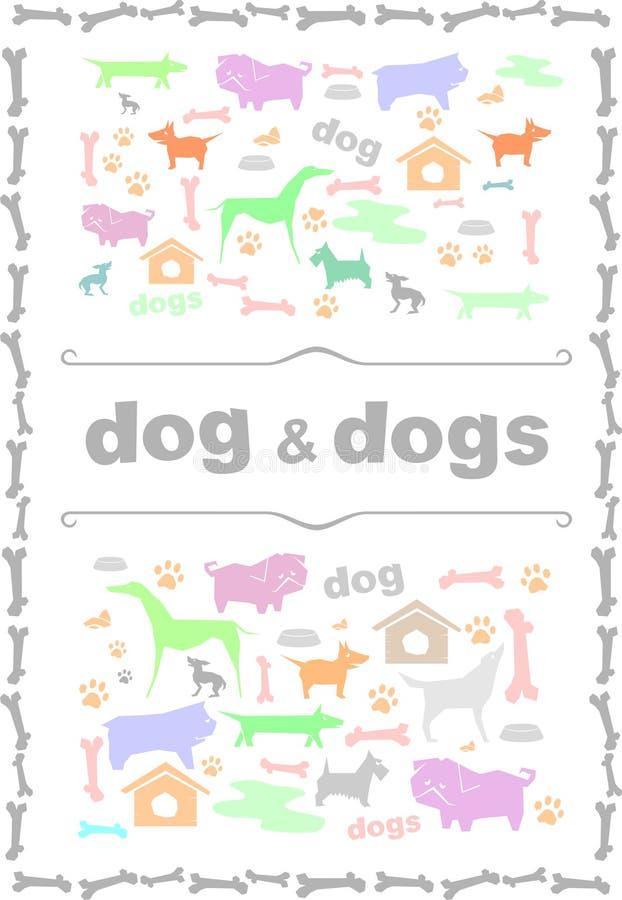 Silhouettes av hundar royaltyfri illustrationer