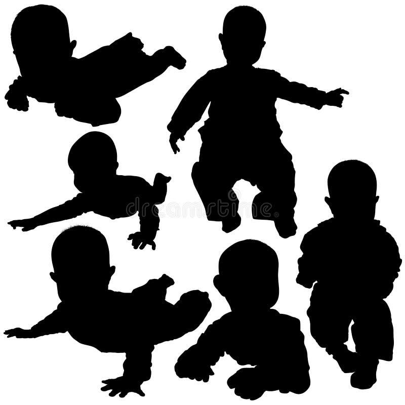 Free Silhouettes - Baby 2 Royalty Free Stock Photos - 2059798