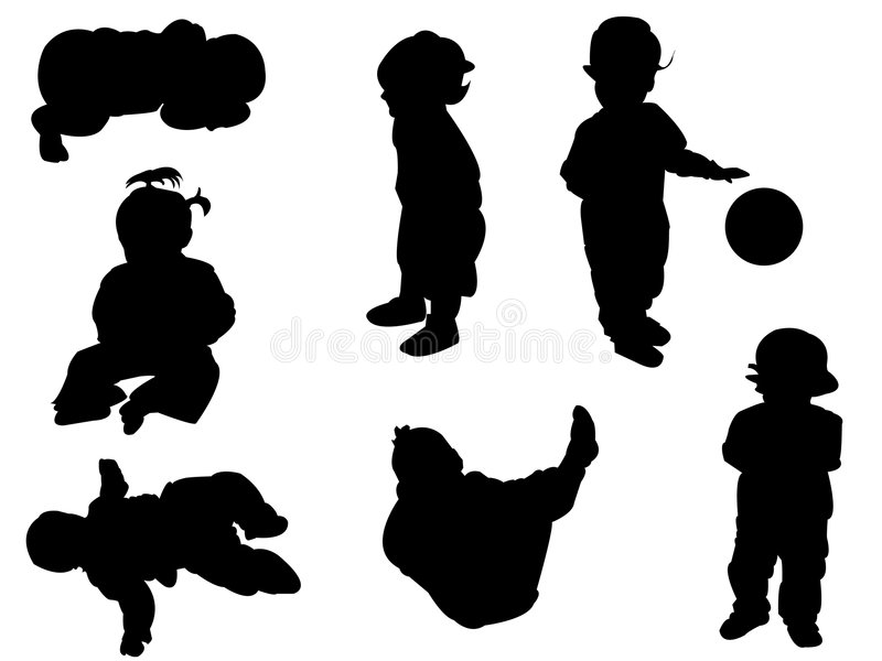 Download Silhouettes - baby stock vector. Illustration of outline - 9114471