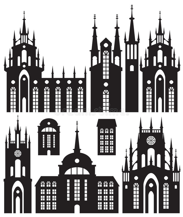 Download Silhouettes of buildings stock vector. Image of church - 27431199