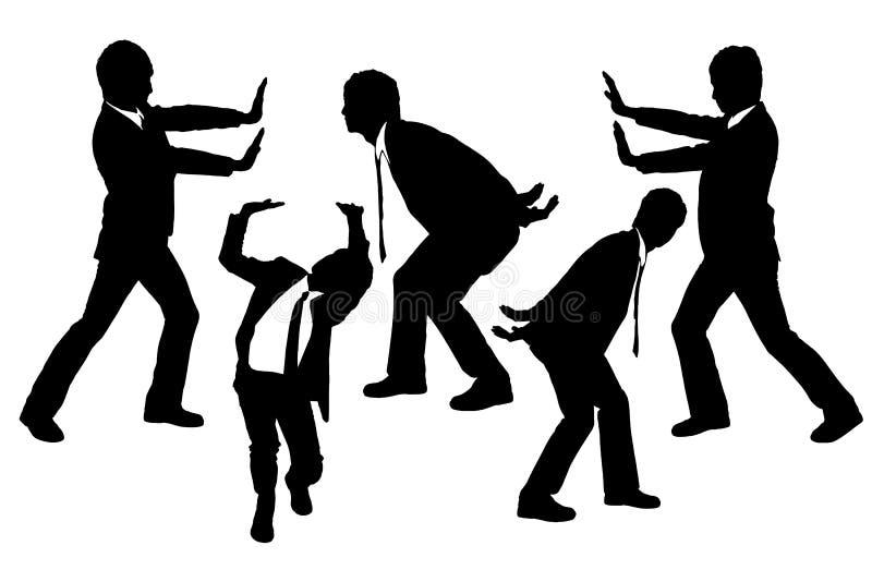Download Silhouettes Of Business Men Holding Something Heav Stock Vector - Illustration of full, copyspace: 34056040
