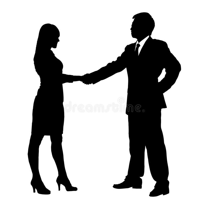 Download Silhouettes Of Business Team Stock Vector - Image: 34136567